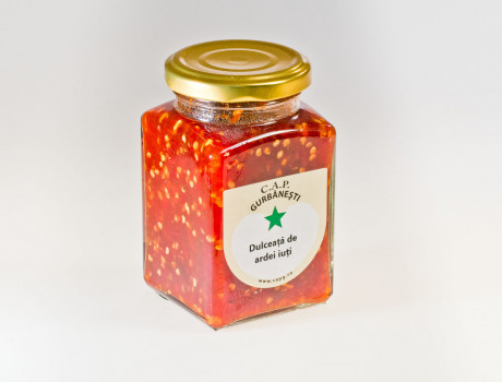 Dulceață de ardei iuți roșii CAP Gurbănești