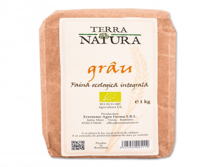Făină ecologică integrală grâu