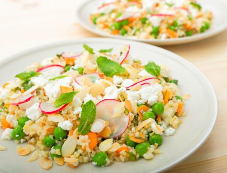 UCOOK: Salată bulgur cu fulgi migdale