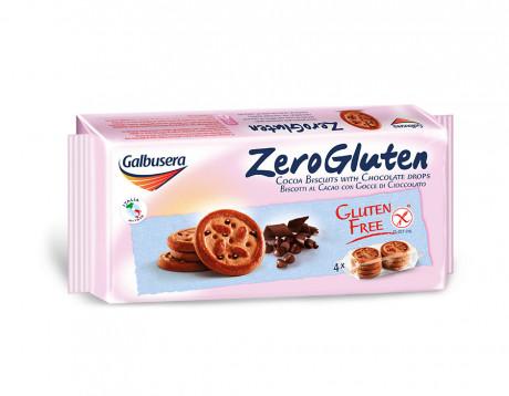 Biscuiți de cacao cu fulgi de  ciocolată Zero Gluten