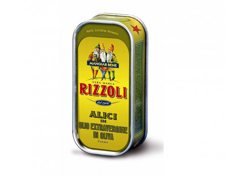 Anchovies fillet in olive oil Rizzoli 90g