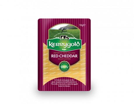 Cheddar roșu felii Kerrygold