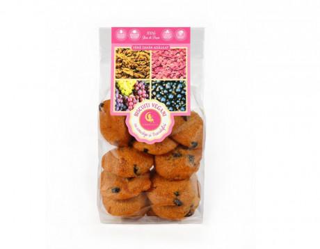 Biscuiți Vegani cu coacăze și trandafiri fără zahăr
