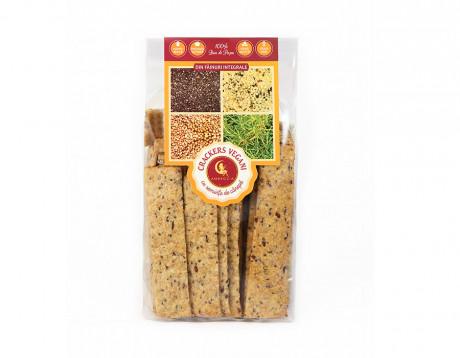 Crackers vegani cu semințe de cânepă și chia