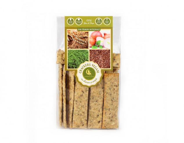 Crackers vegani cu chimen și ceapă
