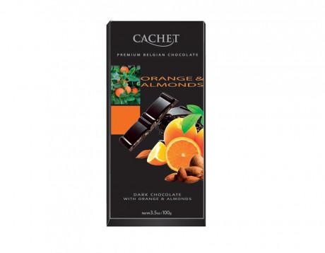 Cachet Ciocolată neagră cu portocale și migdale
