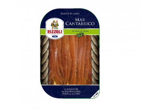 Cantabrian achovies fillet in olive oil Rizzoli 70g