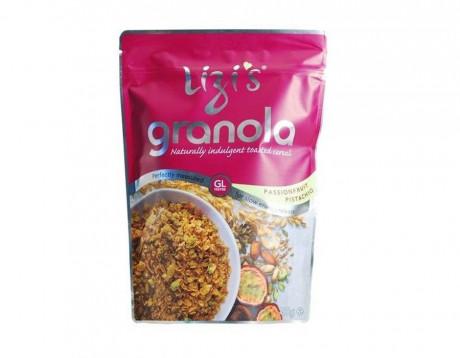 """Musli granola """"Lizi's"""" cu fructul pasiunii și fistic"""
