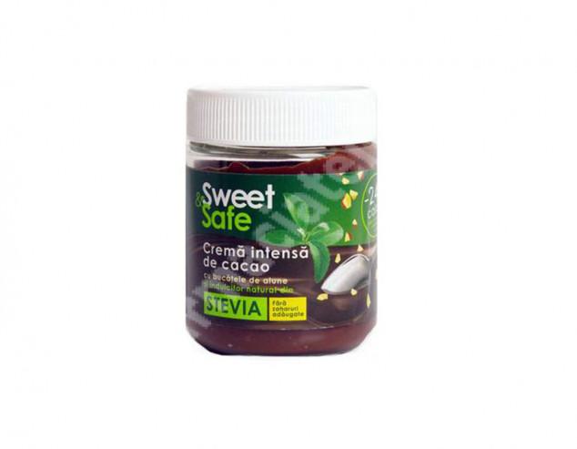 Cremă intensă de cacao și alune cu ștevie Sweet & Safe