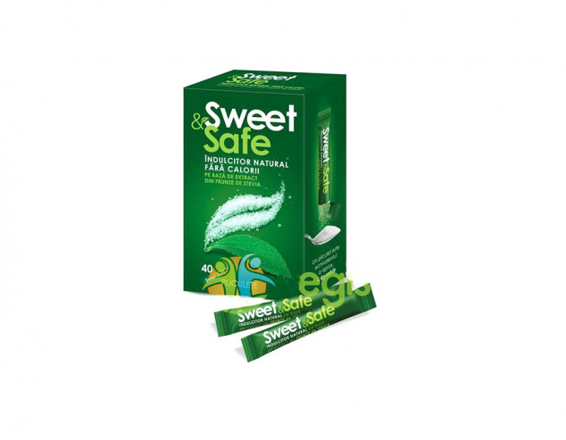 Îndulcitor natural cu extract de ștevie (pliculețe) Sweet & Safe