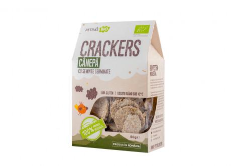 Crackers eco cânepă cu semințe germinate Petras