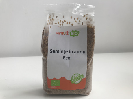 Golden flax seeds, eco Petras