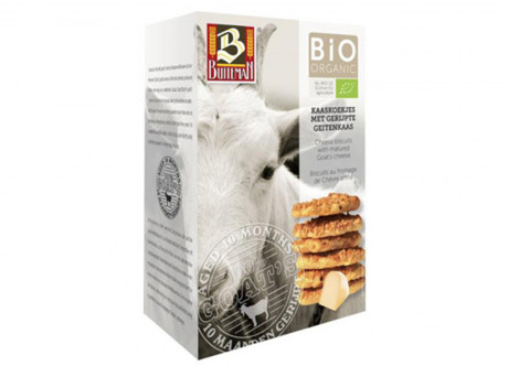 Organic biscuits with matured goat cheese