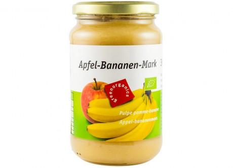 Piure Bio din pulpă de mere și banane pentru copii