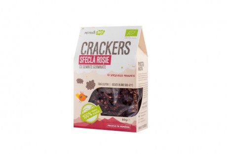 Crackers sfeclă raw eco Petras