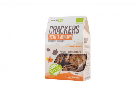 Crackers picanți morcovi raw eco Petras