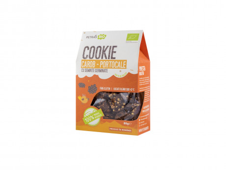 Carob-orange cookie with germinated seeds, eco Petras