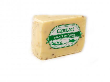 Brânză maturată din lapte de capră cu chimen
