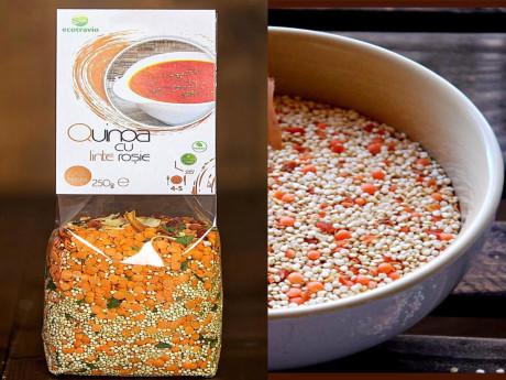 Quinoa cu linte roșie
