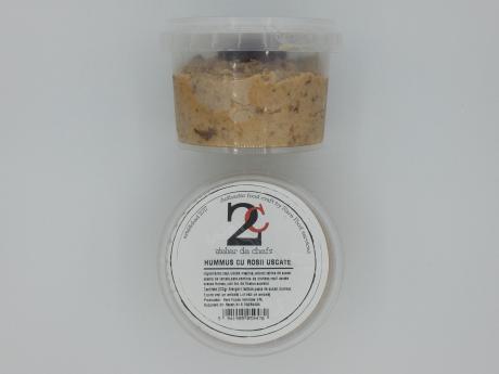 Hummus cu roșii uscate