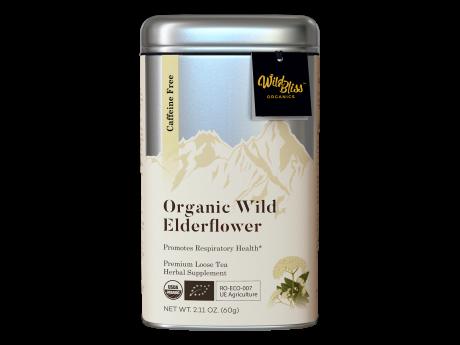 Ceai organic de soc 50g cutie metalică