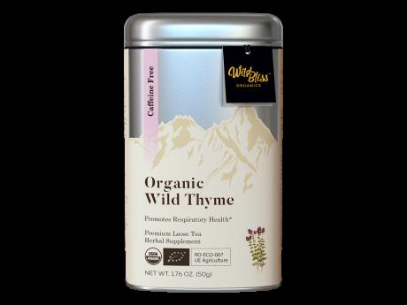 Ceai organic de cimbrișor sălbatic 50g cutie metalică