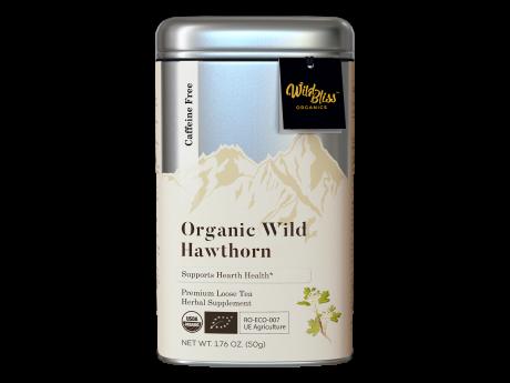 Ceai organic de păducel 50g cutie metalică