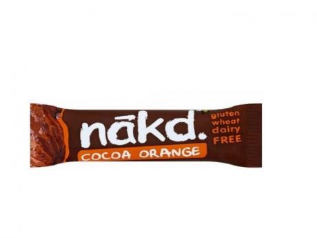 BATON NAKD RAW-VEGAN CU CACAO SI PORTOCALE fara gluten 35g UNICORN NATURALS