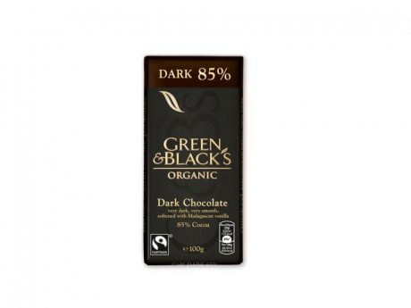 """CIOCOLATA """"GREEN&BLACK'S"""" NEAGRA 85% ECO 100gr UNICORN NATURALS"""