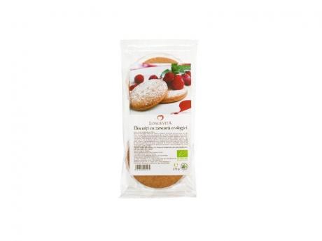 Biscuiti cu crema de zmeura Eco 175g Longevita