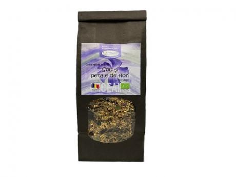 """Ceai de plante BIO """"Soc și petale de flori"""""""