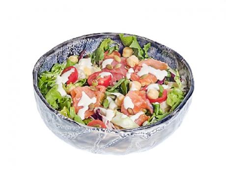Salata cu somon afumat si naut