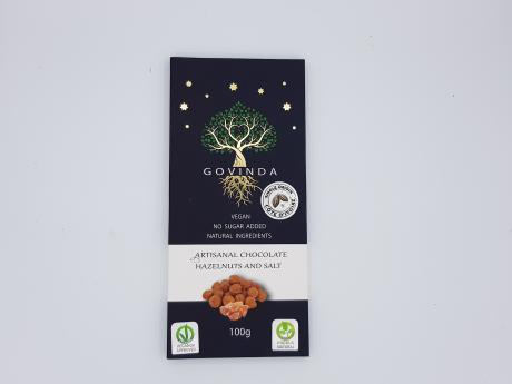 Ciocolată cu alune de pădure și sare Govinda