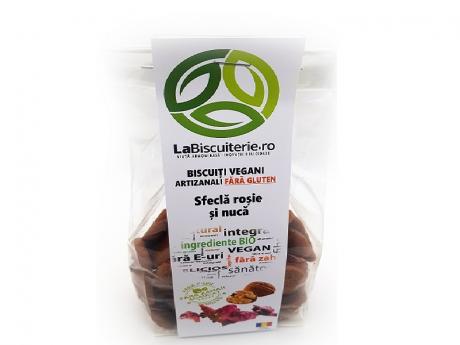 Biscuiți vegani fără zahăr cu sfeclă roșie fără gluten LaBiscuiterie
