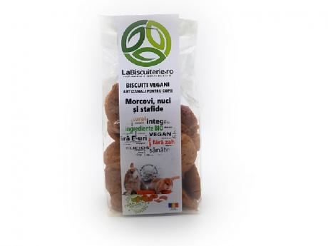 Biscuiți vegani fără zahăr cu morcovi pentru copii LaBiscuiterie