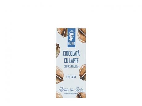 Ciocolata Razvan 54% cacao cu lapte si nuca prajita