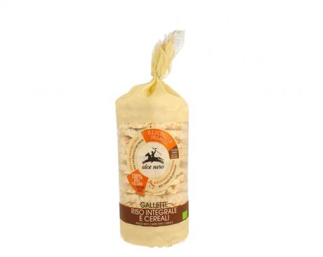 Crackers de orez organic intergral si boabe mixte