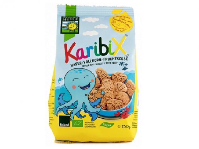Biscuiti bio din faina integrala de ovaz, cu fructe pentru copii