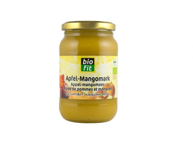 Piure Bio din pulpă de mere și mango pentru copii