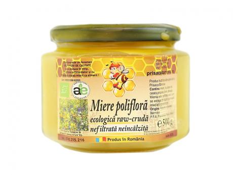 Bio miere cruda nefiltrata poliflora