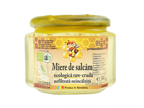 Bio miere crudă nefiltrată salcâm