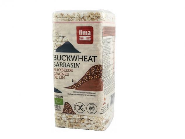 Vafe Bio subțiri din hrișcă cu semințe de in