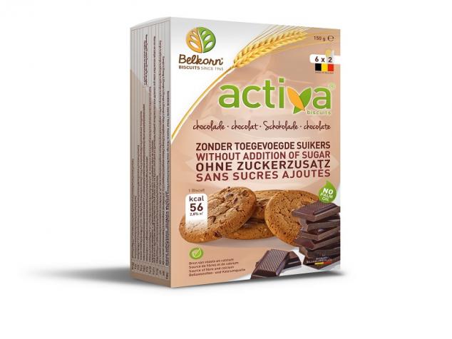 Biscuiti activa cu ciocolata
