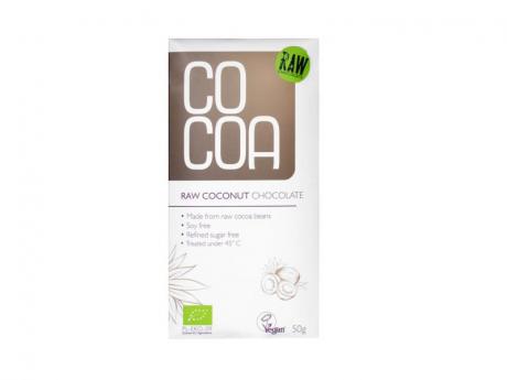 Ciocolată ecologică raw-vegan cu cocos