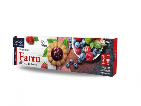 Biscuiti vegan cu fructe de padure eco