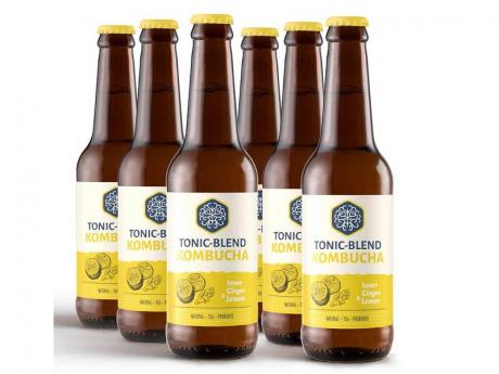 Tonic-Blend kombucha lamaie si ghimbir