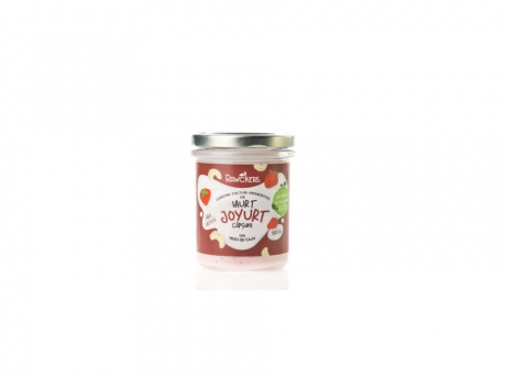 Iaurt din nuci caju cu căpșuni Joyurt