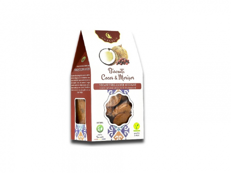 Biscuiți Vegani cu merisor și cocos, fără zahăr