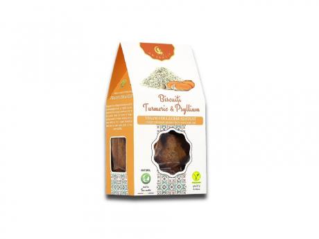 Biscuiți Vegani cu turmeric și psyllium