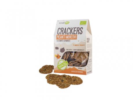 Crackers picanți morcovi raw eco Petras